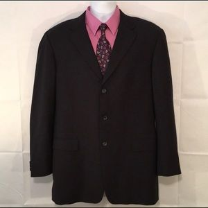 Burberry Relaxed Men's Black Blazer 100% Wool 42L